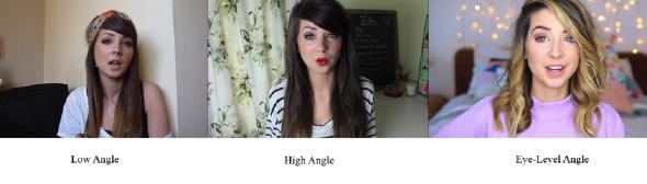 Camera angles in Zoe's videos