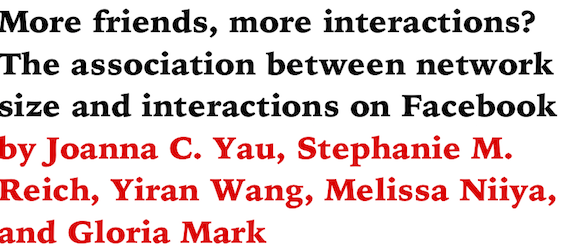 More friends, more interactions? The association between