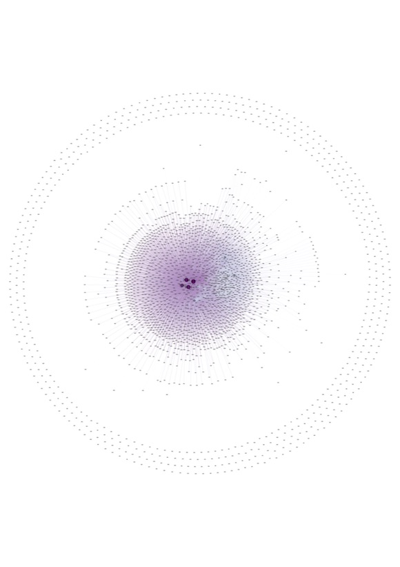 Visualization of NovaGob community as a contact network