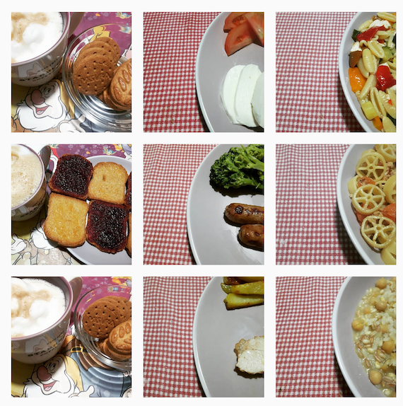 Food diary on Instagram