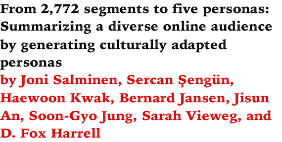 From 2772 Segments To Five Personas Summarizing A Diverse Online Audience By Generating Culturally Adapted