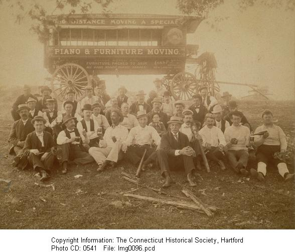 Photo of a men's outing, in the New London, Conn. vicinity (circa 1900)
