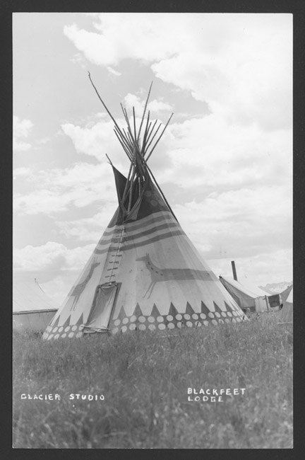Encampment of Blackfeet (Montana)