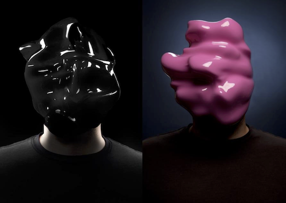 Images by artist Zach Blas generated using facial recognition technologies