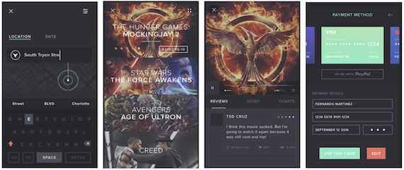 Images captured from Martinez's Cine-App video concept