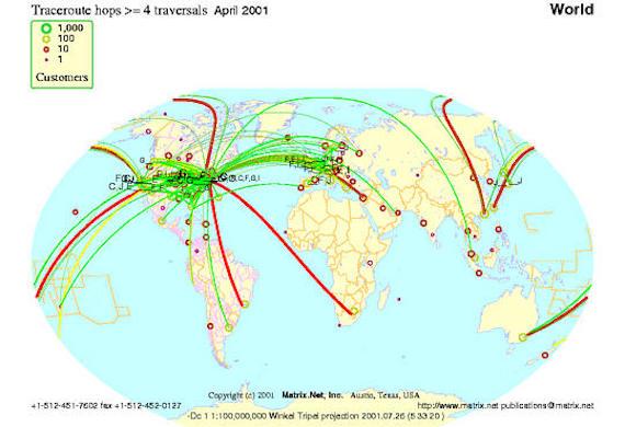 Customer path performance map