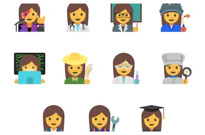 Google's proposed working women emoji