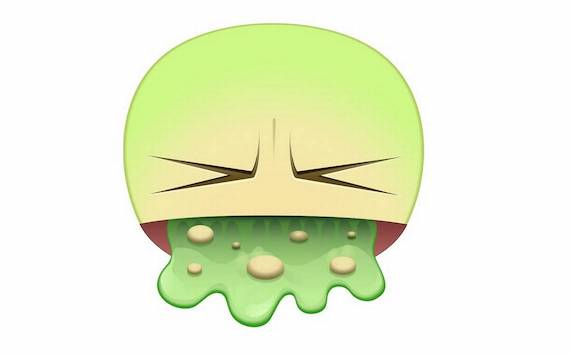 Facebook's vomit sticker
