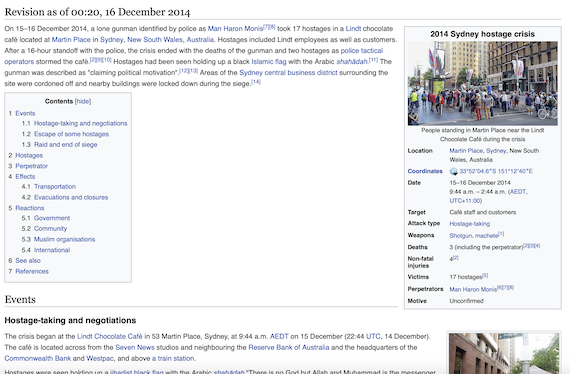 Page looked like at 11.20 am on 16 December
