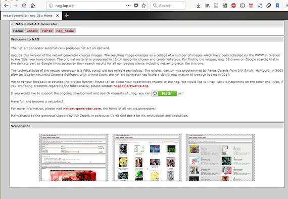 zinterface of net.art generator (ver 5b)