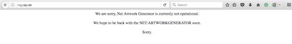 net.art generator with an error message