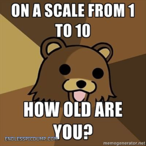 Example of a Pedobear joke image